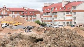 Véhicules et constructeurs de construction dehors banque de vidéos
