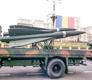 Véhicules fusées défilé au jour national du 1er décembre Photo libre de droits
