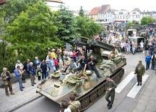 Véhicules militaires, Pologne Image libre de droits