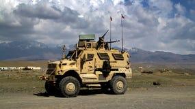Véhicules militaires tchèques en Afghanistan Photo stock