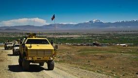 Véhicules militaires tchèques en Afghanistan Photos stock