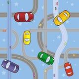 Véhicules sur des routes Image libre de droits