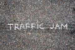 Véhicules sur l'asphalte Images libres de droits