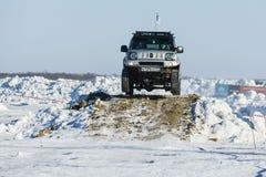 Véhicules tous terrains pendant les concours annuels dans la jeep Photographie stock