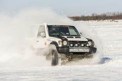 Véhicules tous terrains pendant les concours annuels dans la jeep Photos libres de droits