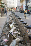 Vélib' Parsian bicycle sharing system France Stock Photography