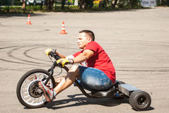 Vélo électrique à trois roues Photographie stock