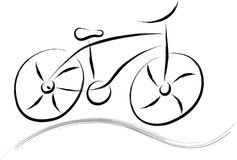 Vélo abstrait Photos stock
