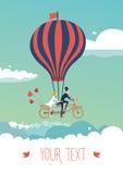 Vélo au-dessus des nuages Photo stock
