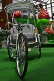 Vélo blanc Photographie stock
