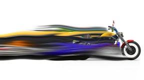 Vélo coloré - traînées de vitesse illustration de vecteur