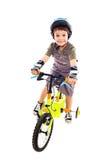 Vélo d'équitation heureux images libres de droits