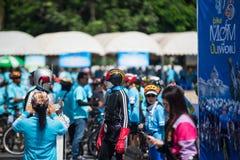 Vélo d'événement pour la maman Photo libre de droits
