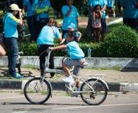 Vélo d'événement pour la maman Photo stock