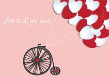 Vélo d'amour Photos libres de droits