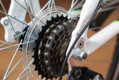 Vélo d'entraînement à chaînes Photographie stock