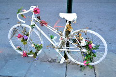 Vélo de cru à New York Photo libre de droits
