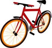 vélo de fond d'isolement au-dessus du blanc de sport Photo libre de droits