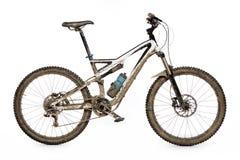 Vélo de montagne boueux image stock