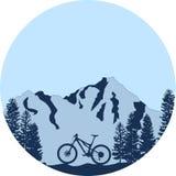 Vélo de montagne incliné Image libre de droits