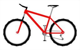 Vélo de montagne rouge Illustration Libre de Droits