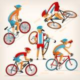 Vélo de monte de personnes à toute allure illustration stock
