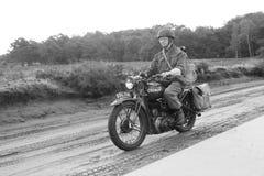 Vélo de moto de la deuxième guerre mondiale Photographie stock libre de droits
