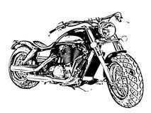 Vélo de moto numéro un sur le fond blanc Photographie stock libre de droits