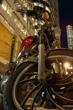 Vélo de nuit photos libres de droits