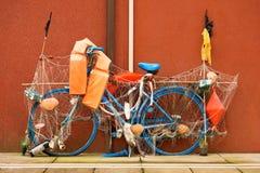 Vélo de pêche - Caorle Italie Photos libres de droits