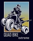 Vélo de quarte illustration libre de droits