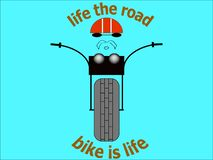 Vélo de route de couperet d'illustration d'image de T-shirt de cycliste d'autocollant illustration de vecteur