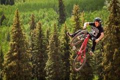 Vélo de Slopestyle Photographie stock libre de droits