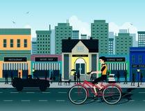 Vélo de ville illustration de vecteur