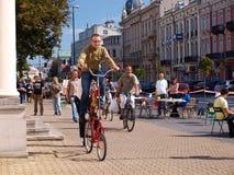 Vélo drôle, Lublin, Pologne photographie stock libre de droits
