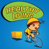 Vélo et Healthy-01 Photo libre de droits
