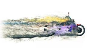Vélo - fumée colorée FX illustration libre de droits