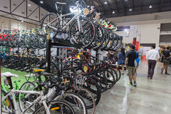 Vélo international 2017 de Bangkok La plus grande expo de recyclage de vélo dans la Thaïlande, la tendance du recyclage populaire Photos libres de droits