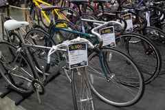 Vélo international 2017 de Bangkok La plus grande expo de recyclage de vélo dans la Thaïlande, la tendance du recyclage populaire Images stock