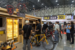 Vélo international 2017 de Bangkok La plus grande expo de recyclage de vélo dans la Thaïlande, la tendance du recyclage populaire Photos stock