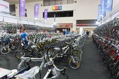 Vélo international 2017 de Bangkok La plus grande expo de recyclage de vélo dans la Thaïlande, la tendance du recyclage populaire Image stock