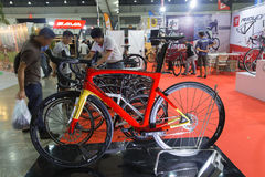 Vélo international 2017 de Bangkok La plus grande expo de recyclage de vélo dans la Thaïlande, la tendance du recyclage populaire Photo stock