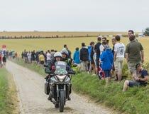 Vélo officiel sur une route de pavé rond - Tour de France 2015 Images stock