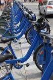 Vélo partageant à Melbourne - Australie Image libre de droits