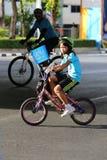 Vélo pour la maman Photos stock