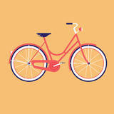 Vélo pour la ville Illustration plate de vecteur Images stock