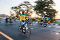 Vélo pour le papa Photo stock
