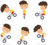 Vélo Rider Boy de BMX illustration de vecteur