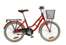Vélo rouge de gosses Images stock