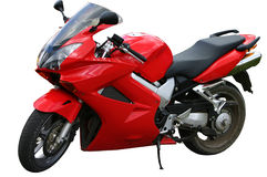 Vélo rouge de vitesse Photo libre de droits